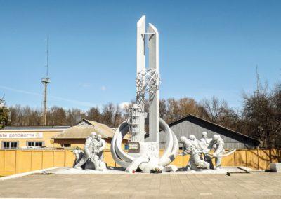 Město Černobyl - hasičský pomník