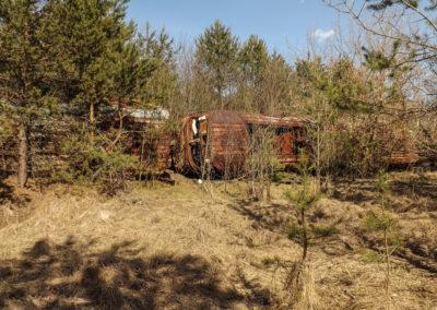 Vagóny na železniční stanici Janov