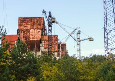 Černobylská jaderná elektrárna - rozestavěný 5 a 6 blok