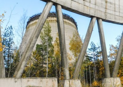 Černobylská elektrárna - chladící věž