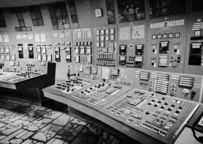 Černobylská jaderná elektrárna - velín č.3.